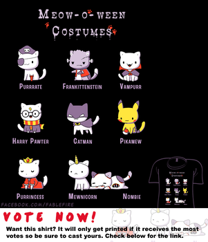 Woot Shirt - Meow-o-ween Costumes by fablefire