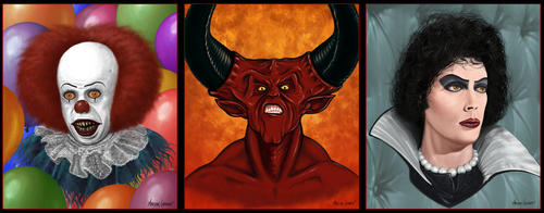 Tim-Curry-Triptych by MarshalGraham