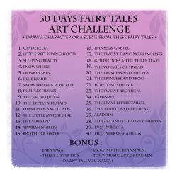 30 Days Fairy Tales Art Challenge - ENGLISH by coda-leia