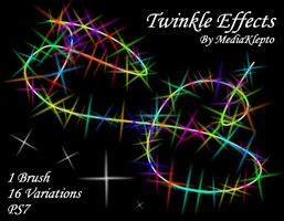 PS7 - Twinkle Effect Brushes by mediaklepto