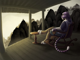From His Porch by Lachtaube