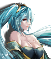 LoL Sona Fan Art by blackroseKJL