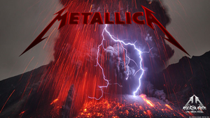 Metallica Ray Volcano Wallpaper by emfotografia