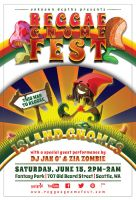 REGGAE GNOME FEST: Print Flyer (Color: White) by CauseThought