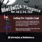 Howl 2018: Looking for a Logistics Lead by HowloweenCanada