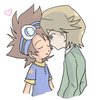 Digimon: Kiss meee 14x11 by Shigerugal