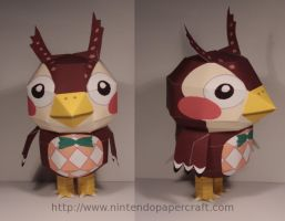 Blathers papercraft by Drummyralf