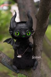Carbon Dragon art doll by Furrykami-creatures