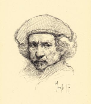 Quick sketch study after Rembrandt by SILENTJUSTICE