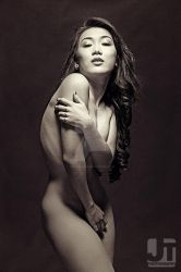 Black and White Nude with Sachi by jaytablante
