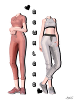[MMD] Sportswear Outfits (+DL) by AppleWaterSugar