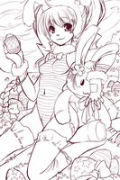 Happy Easter lineart by SpookyRuthy
