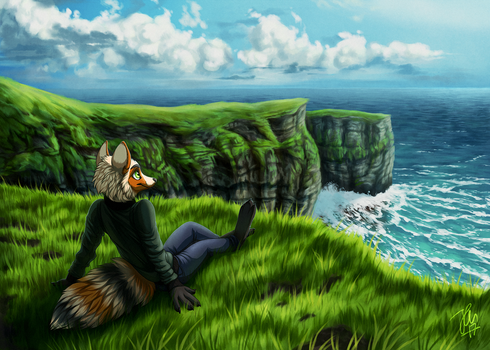 Cliffside Recluse - By Kippurable by Darkflame-wolf