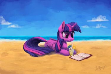 Beach Book by LolliponyBrony