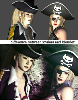 Difference Between XNALara and Blender by LaravsDoppelganger