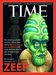 Zeep on the cover of Time Magazine by borschtplz