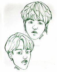 Drawing BTS by memory (3) by Sophie483