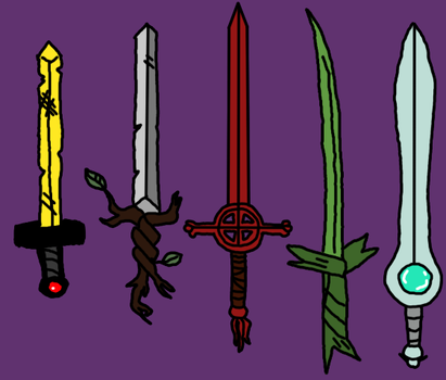 finn's swords by tightdemo