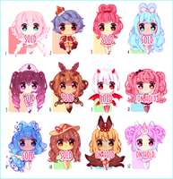 $7 chibi adopts!! ONE LEFT by snow-puffs