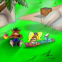 Crash and Coco relaxing by Nl-Rad
