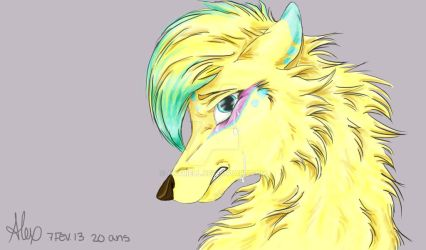Gold wolf by Anyriell