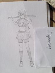 Megurine Luka - Batter up - by flipocrisy (draft) by flipocrisy