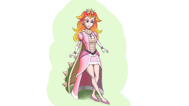 PeachBowser - Peach and Bowser's daughter by Balgorr