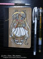 Notebook Chibi Serenity - Fanart Sailor Moon by CrisEsHer