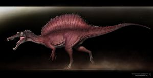 Spinosaurus aegyptiacus by Swordlord3d