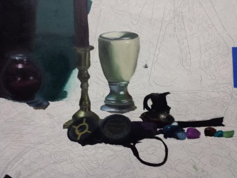 Oil Painting WIP by ramebir