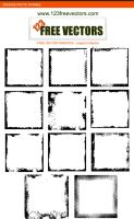 Grunge Photo Frames Brushes by 123freevectors