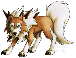 Lycanroc by Lurking-Leanne