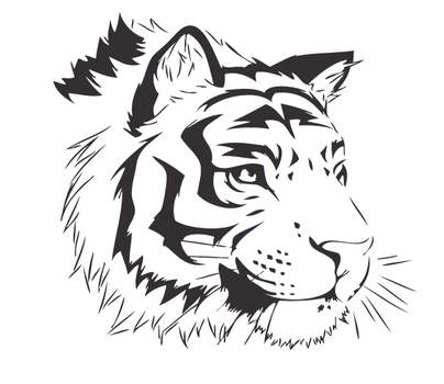 Vector Bengal Tigger by crazthonfry