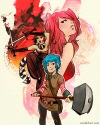 Scott Pilgrim - Girlfriends vs the World by wendichen