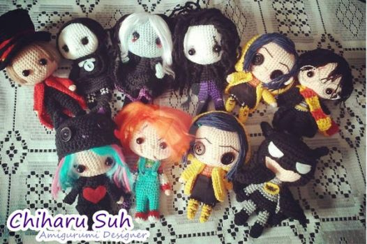 Chibi DOLLS by Amigurumi-sweetheart