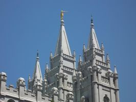 Salt Lake Temple by GwillaTheDragon