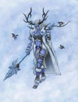 Skadi, Goddess of Winter and Hunt by Dark-Emissary