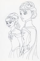 Unofficial Frozen Coloring Book Elsa Anna by MyThoughtsAreDeep