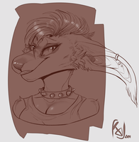 Sketch bust for TheSkullBeast by RICODAVEY