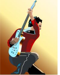 Matthew Bellamy 3 by screenprint