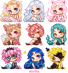 Pixel icon batch [Commissions] by Hiyirii