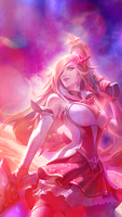 [LOL] Star Guardian Miss Fortune - Phone Wallpaper by Psychomilla