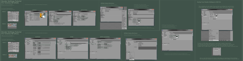 C4D R10 + R11 Render Settings by stinky666
