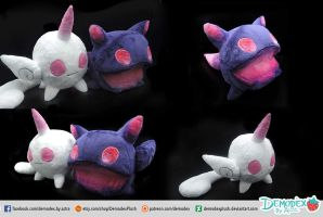 Kuro e Shiro plush by DemodexPlush