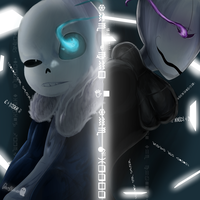 Echo - Sans and Gaster by Ghostini