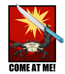 Crab with a knife by Sandwich-Anomaly