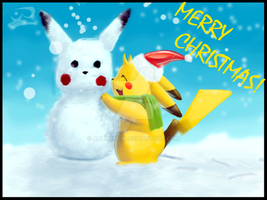 .:A Pokemon Christmas:. by BalmungX1