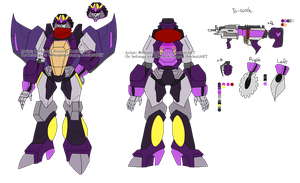 Fleetshooter's IDW TF: MTMTE Ref and Bio (TfSona) by PurpleGramps