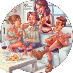 Pizza Party by Kunalnath