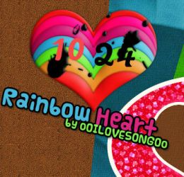 Skin Rainbow Heart  for Rainmeter by oOILOVESONGOo